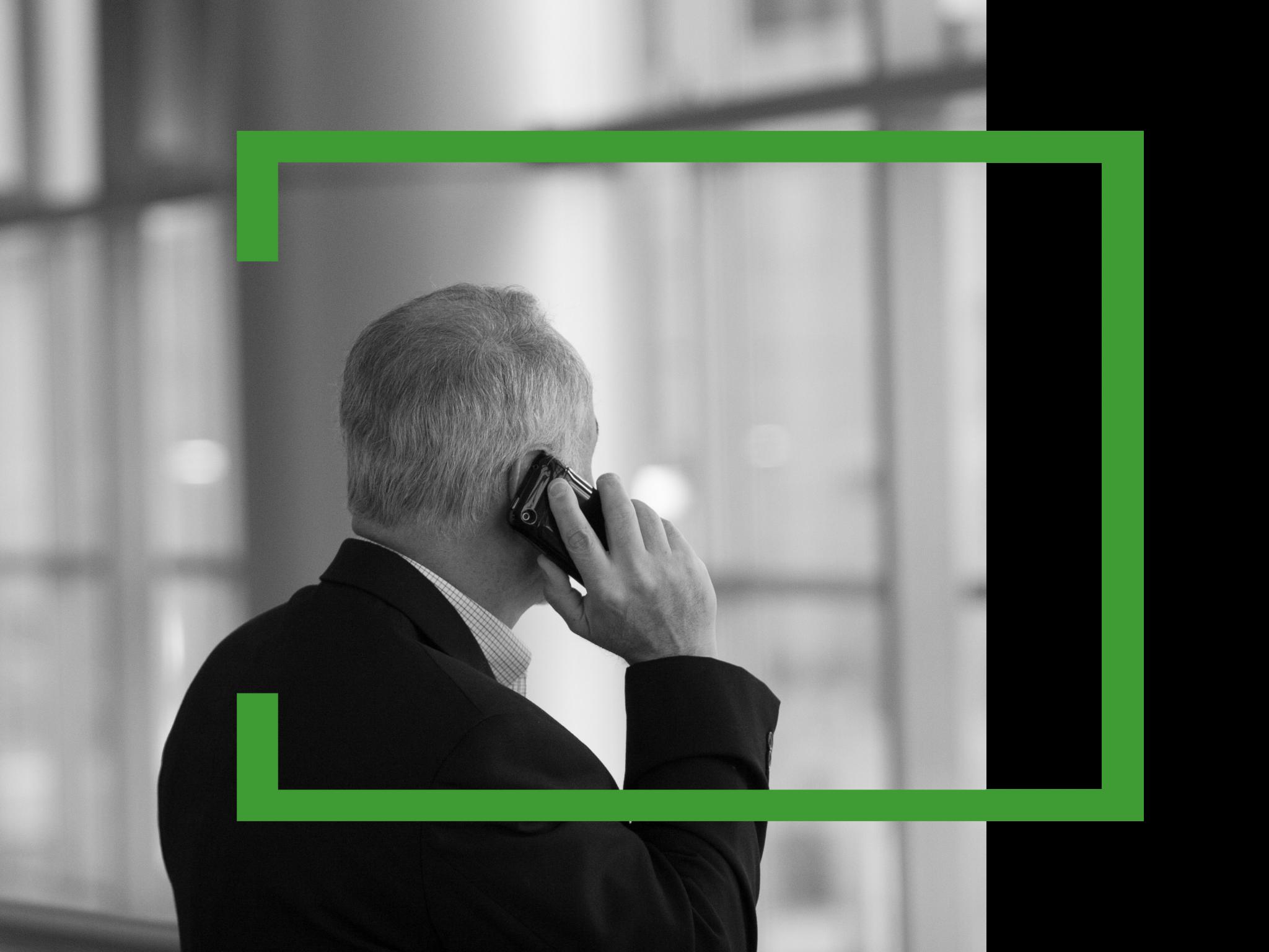 Image of man speaking on phone